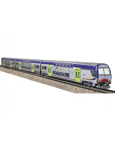 1097L - Set 3 carrozze a due piani...