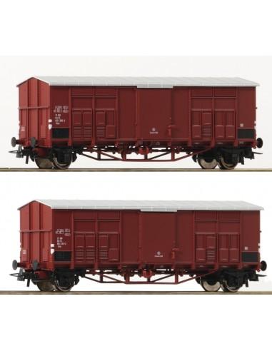 Roco 76164 - Set 2 carri Ghks a tetto...