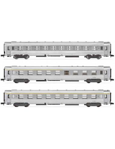 HN4322 - Set di 3 carrozze DEV Inox...