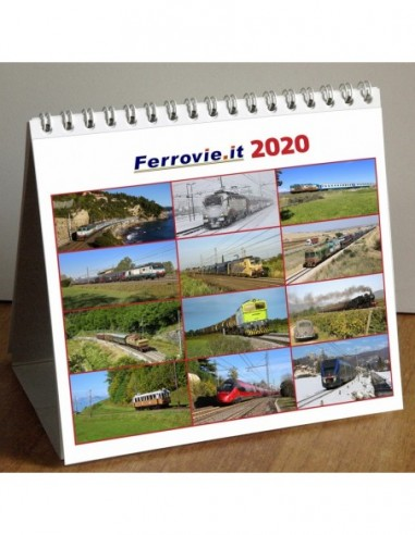 Calendario Ferrovie.it 2020 da tavolo